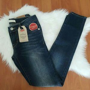 Levi's girls 710 super skinny adjustable jeans 12